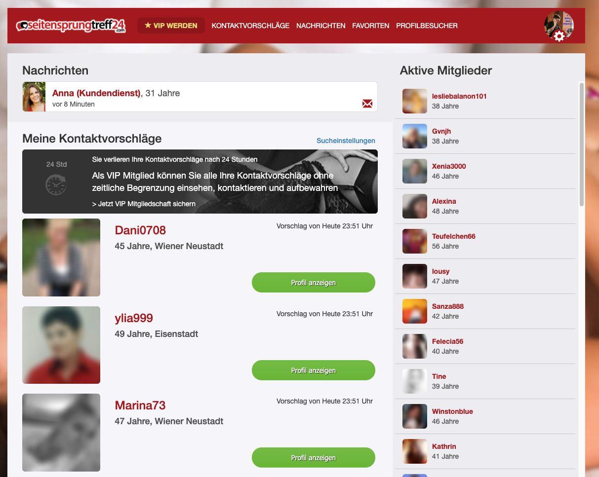 Gute Kontaktvorschläge von der Plattform